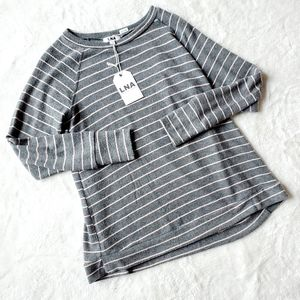 LNA REVOLVE NWT Organic 96% Tencil striped sweater